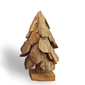 Teakholztannenbaum klein aus Treibholzstücken
