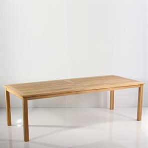 Briston Esstisch 220 x 100 x 76cm Teak mit 6x6 cm Tischbeinen