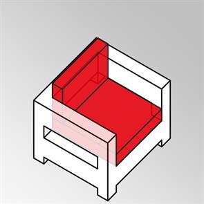 FLEXILounge Polsterset 2tlg Sessel small 13 cm dick Nagata