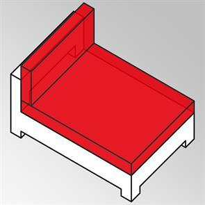 FLEXI Polsterset Mittelmodul XL Nagata 13 cm dick Nagata auch für Side Seater