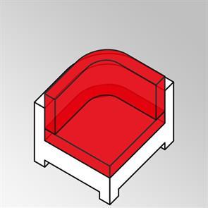 FLEXI Polsterset 2tlg Rundeck C-shaped Sunproof 13 cm dick Nagata für Rundeck