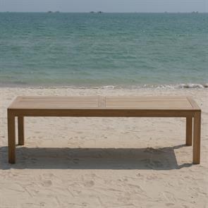 Hampton Esstisch 240 x 100 x 76,5cm Teak mit 9x9 cm Tischbeinen mit Höhenverstellung