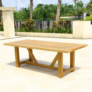 Vineyard Esstisch 230x100x75cm Recycle Teak - Beine 9x9cm - Gestell 8x5cm - Platte 5cm