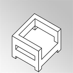 FLEXI Lounge Sessel mit Armlehne 95x95x65 cm Geflecht Lounge