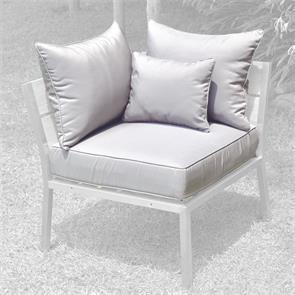 Makan Polsterset Lounge Eckmodul SunProof 4-tlg.(1 Sitz-,2 grosse + 1 kleines Rückenpolster)