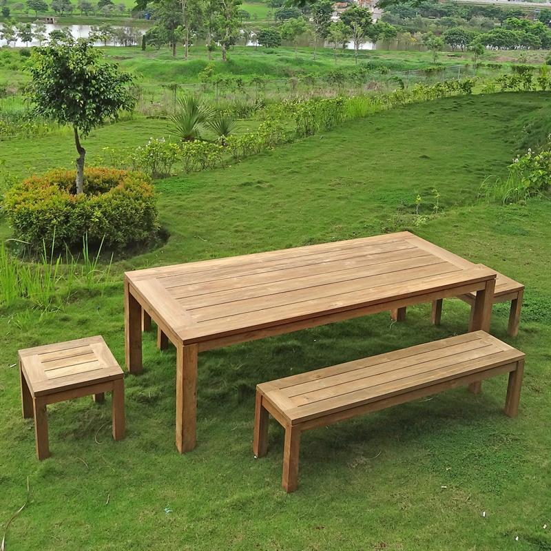 Awesome Dusun Gartenbank Ohne Rückenlehne 150 Cm Recycling Teak