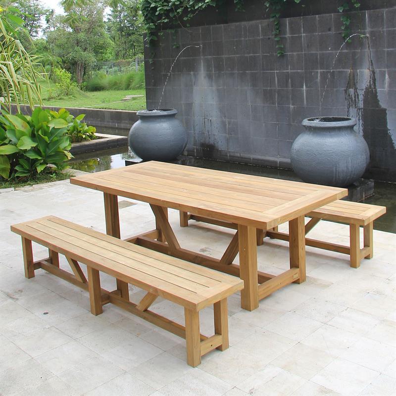 vineyard gartenbank ohne r ckenlehne 230 cm aus 100. Black Bedroom Furniture Sets. Home Design Ideas