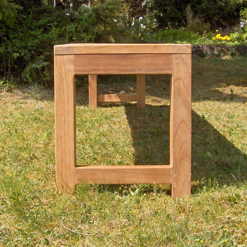 hampton gartenbank ohne r ckenlehne 160 cm teak. Black Bedroom Furniture Sets. Home Design Ideas